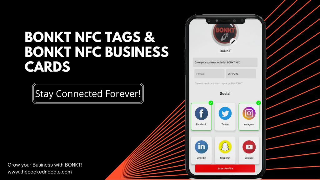Stay connected forever with BONKT NFC Products